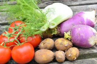Venkel met meiraapjes en nieuwe aardappeltjes